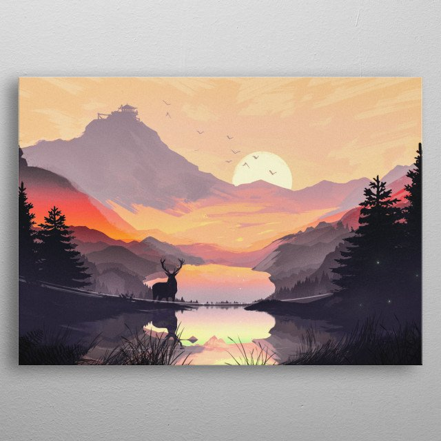High-quality metal print from amazing Flat Design collection will bring unique style to your space and will show off your personality. metal poster