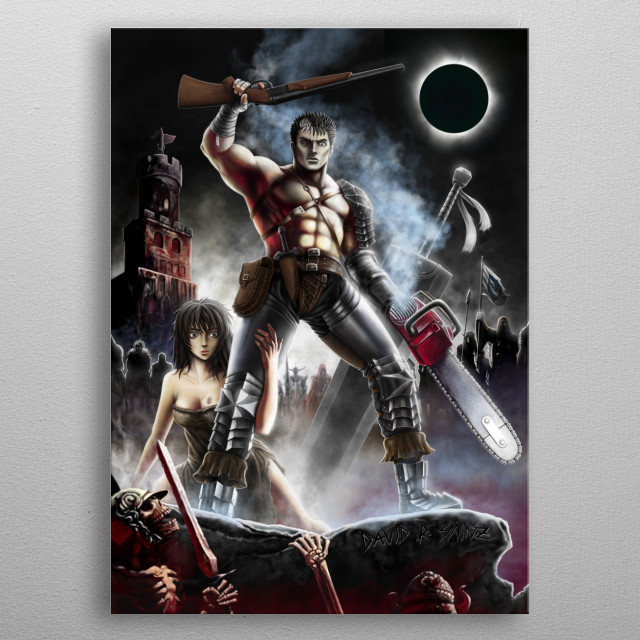Army of Griffith! (Berserk & Army of Darkness) metal poster