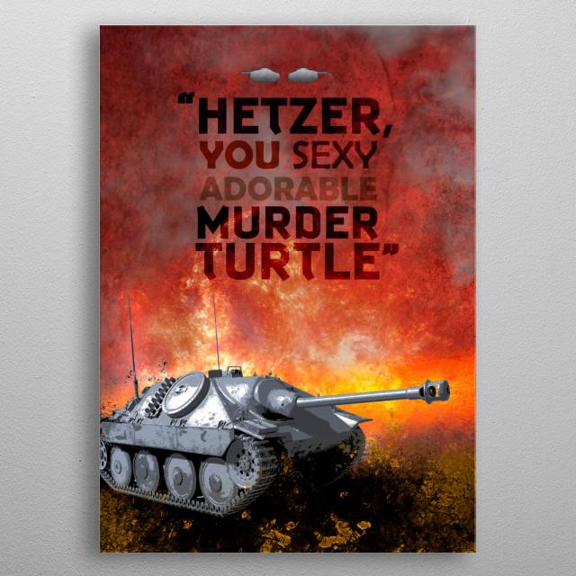 Muder Turtle metal poster
