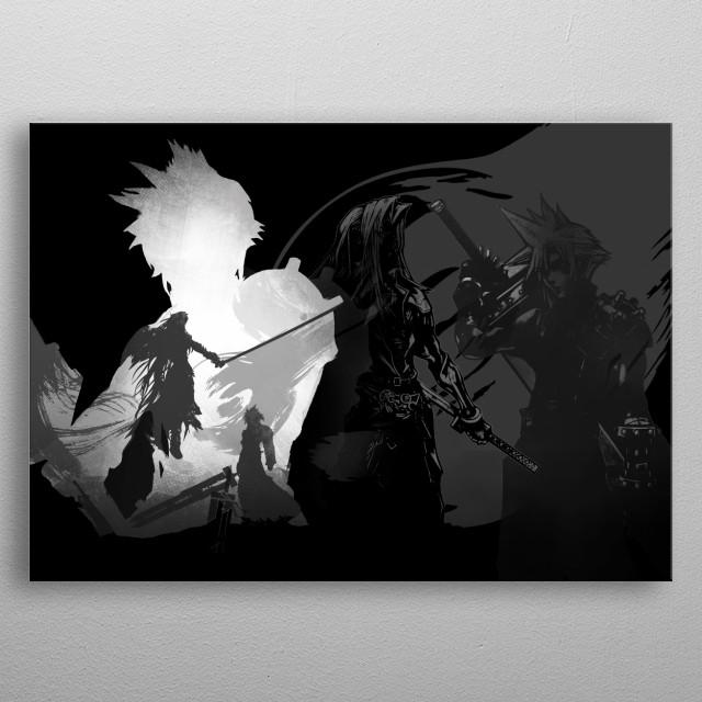 Cloud's Journey metal poster