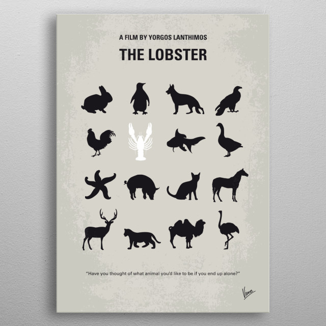 No939 My The lobster minimal movie poster metal poster