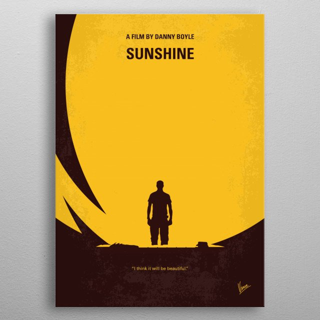 No947 My Sunshine minimal movie poster metal poster