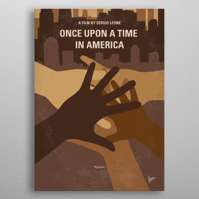 No942 My Once Upon a Time in America minimal movie metal poster