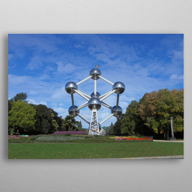 Atomium monument in Brussels metal poster