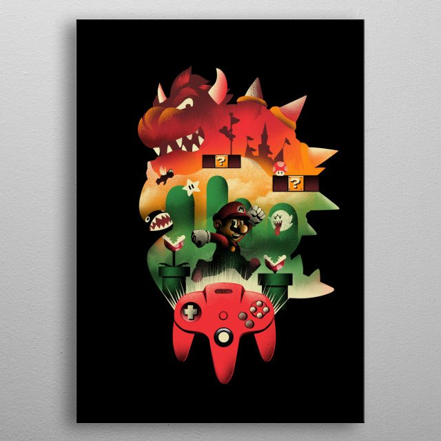 A New World and Adventure metal poster