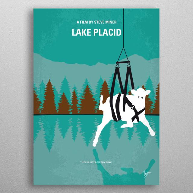 No944 My Lake Placid minimal movie poster metal poster
