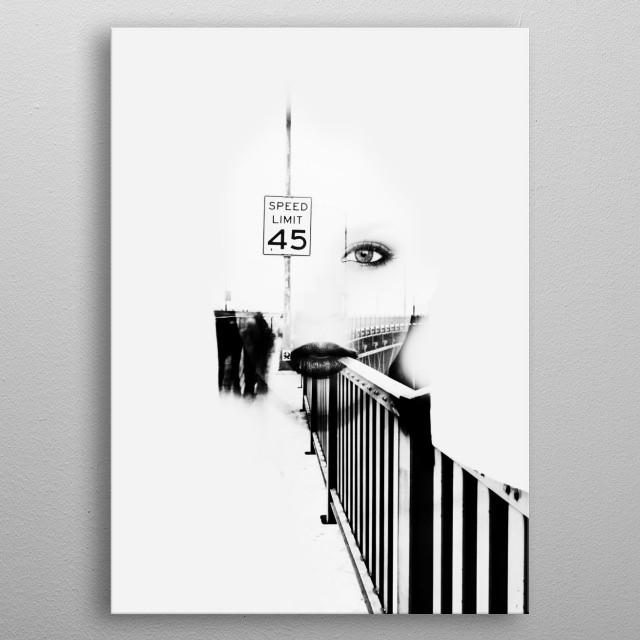 Speed Limit 45 metal poster