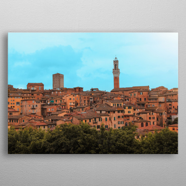 View of Siena, in Italy metal poster