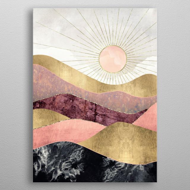 Blush Sun metal poster