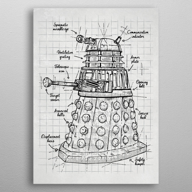 Extermination project metal poster