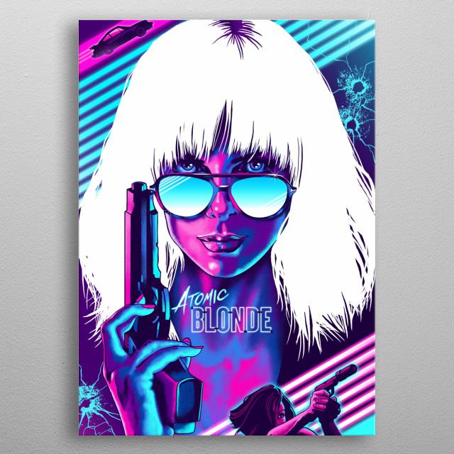 Blonde metal poster