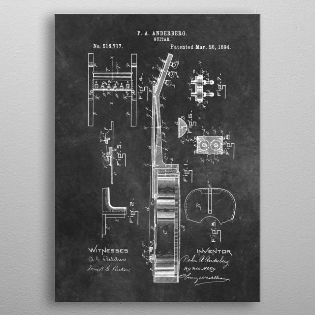 1894 Anderberg Guitar metal poster