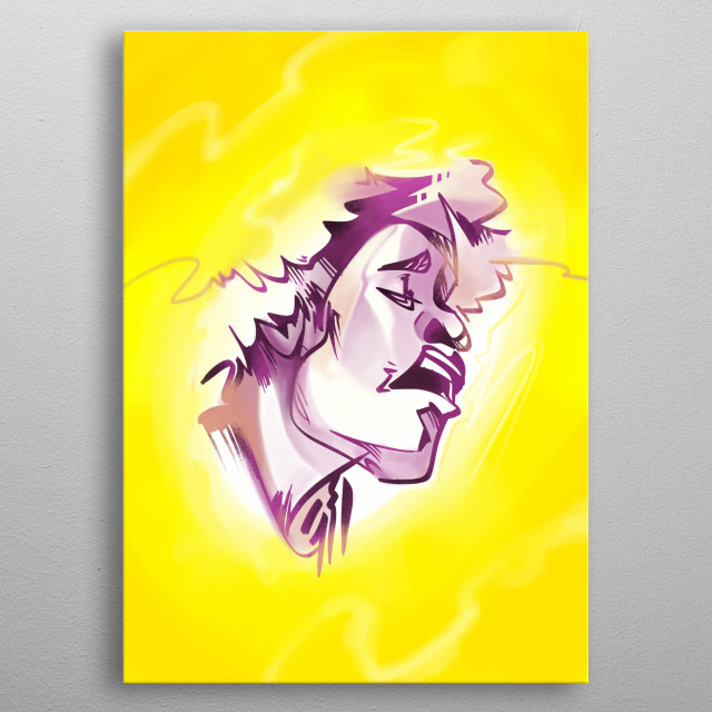 Psychedelic music legend metal poster