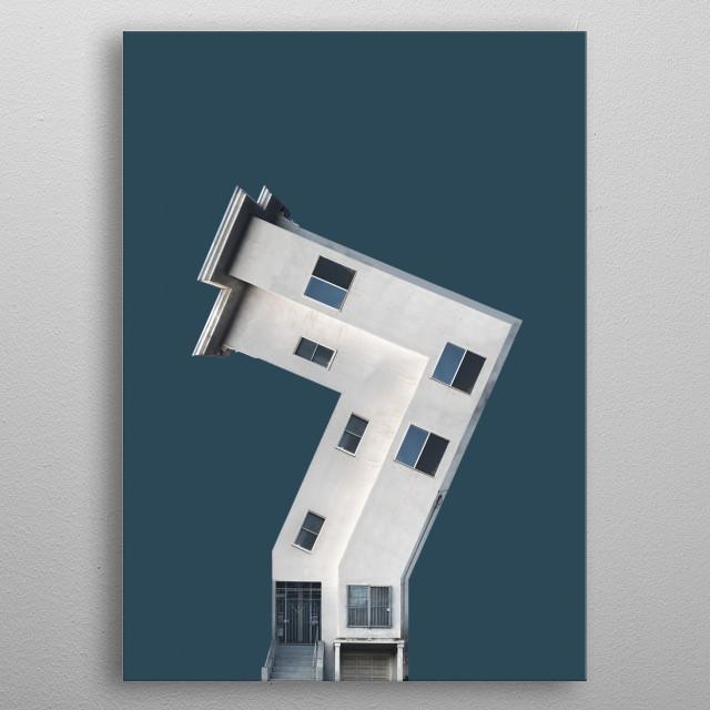 699 • Zig Zag House metal poster