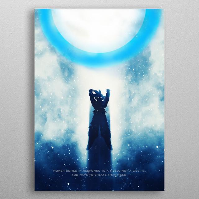 Goku / Dragonball Z / Tagline metal poster