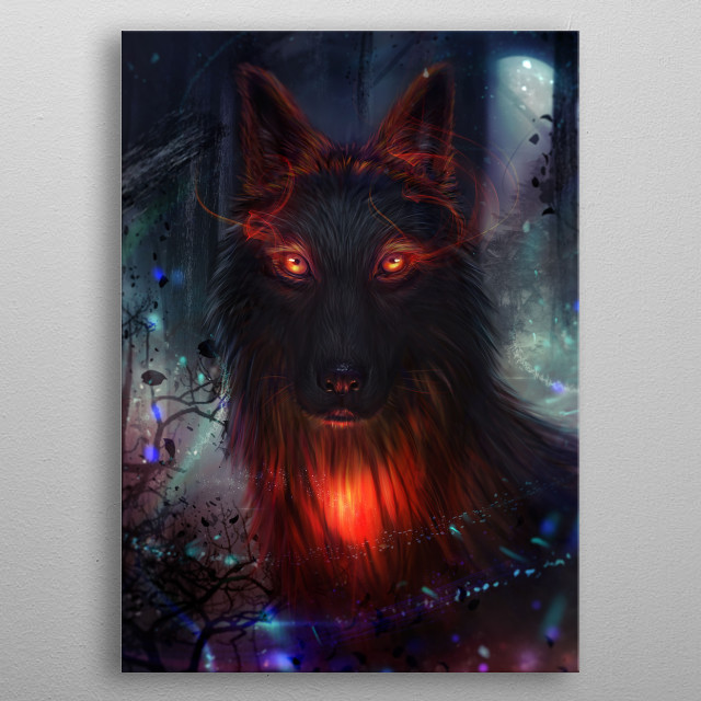Lonewolf metal poster