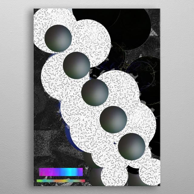 Structural analysis metal poster