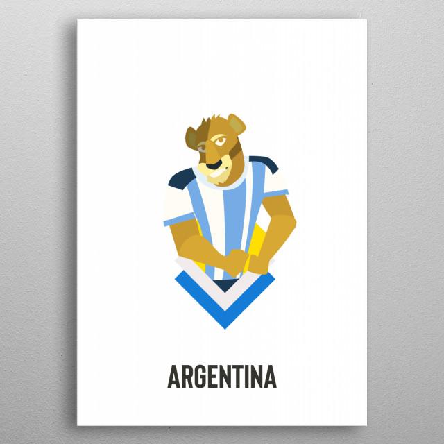 Argentina metal poster