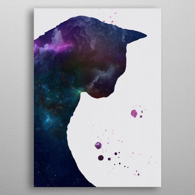 Cat nebula metal poster