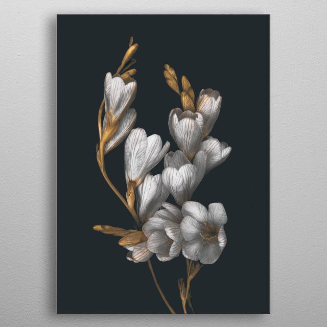 Night Flowers  metal poster