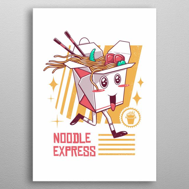 Noodle Express metal poster