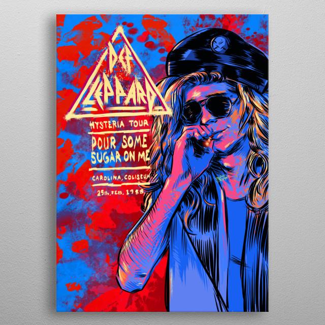 Def Leppard metal poster