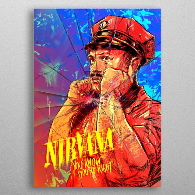 Nirvana metal poster
