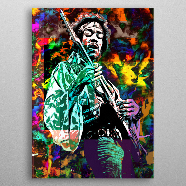 Jimmy Hendrix metal poster