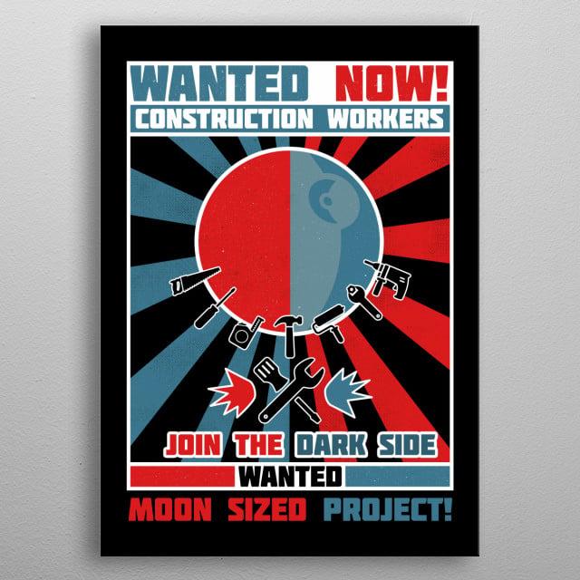 Secret Moon Project metal poster