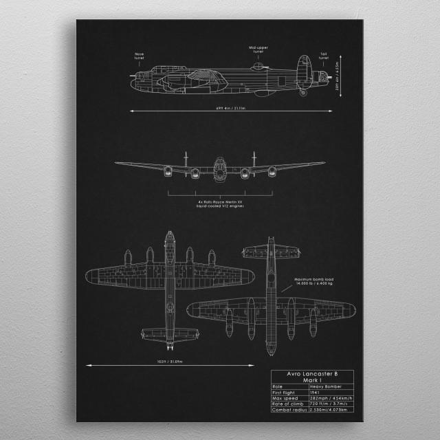 Avro Lancaster B Mark I metal poster