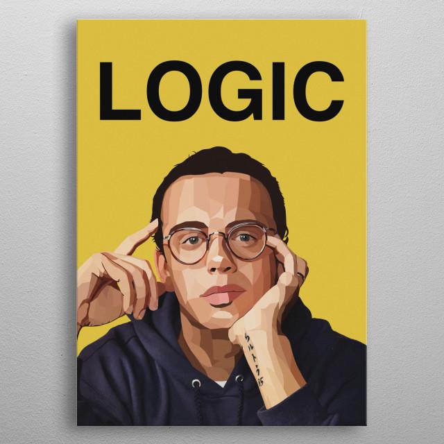 Logic Helmetica metal poster
