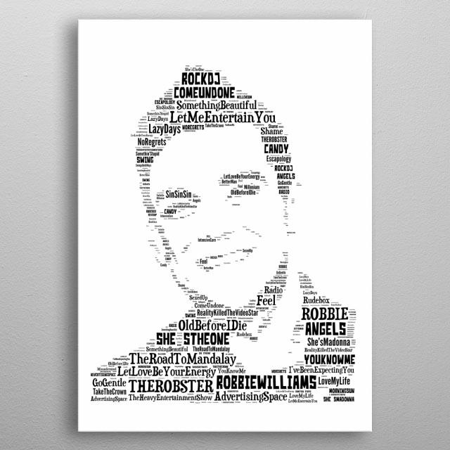 Robbie Williams Tribute metal poster