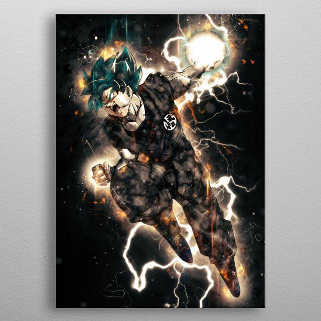 goku metal poster