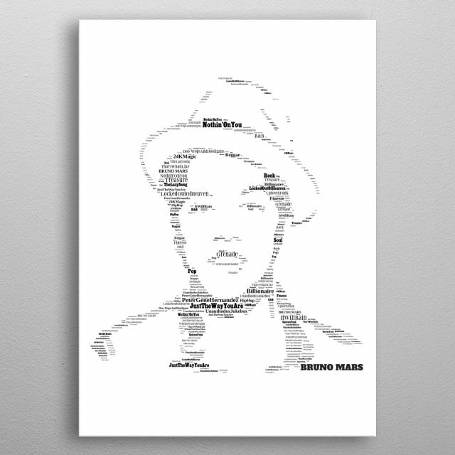 Bruno Mars Tribute - Modern music icon metal poster