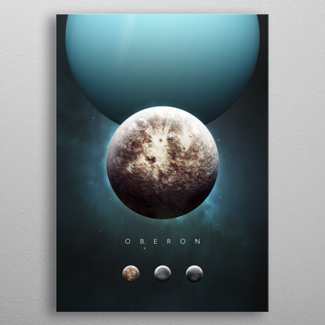 A Portrait of the Solar System: Oberon metal poster