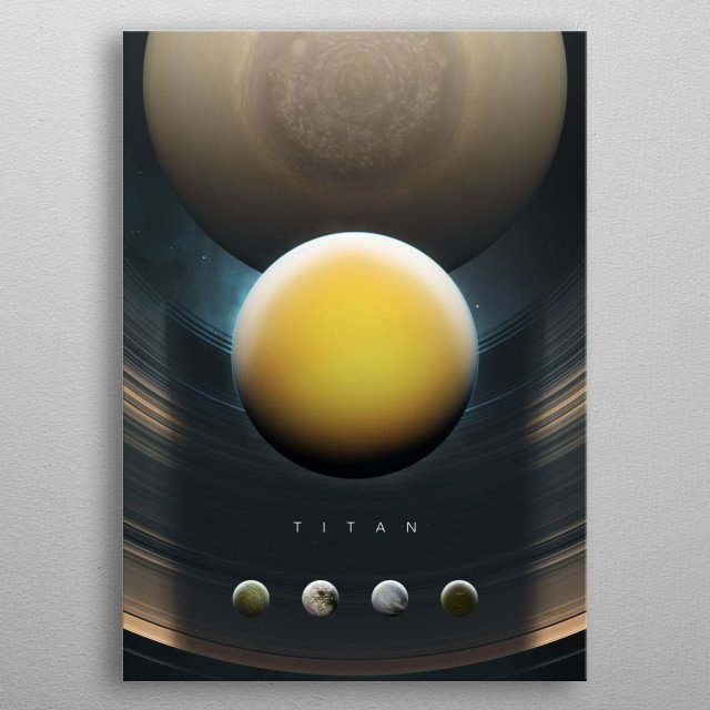 A Portrait of the Solar System: Titan metal poster