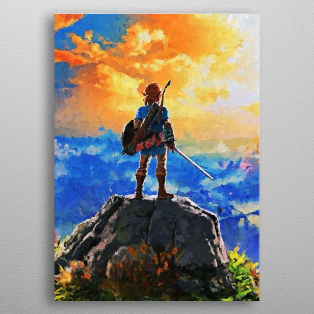 Zelda / Canvas Paintings metal poster