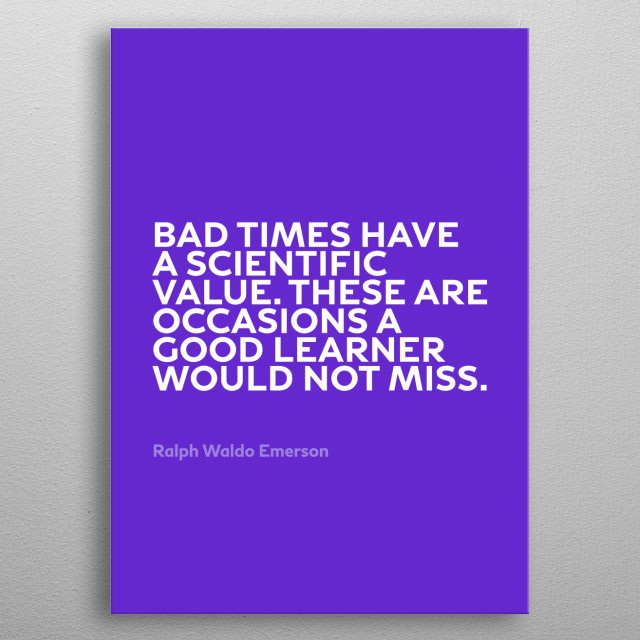Inspirational Quote by Emerson Series 024 metal poster