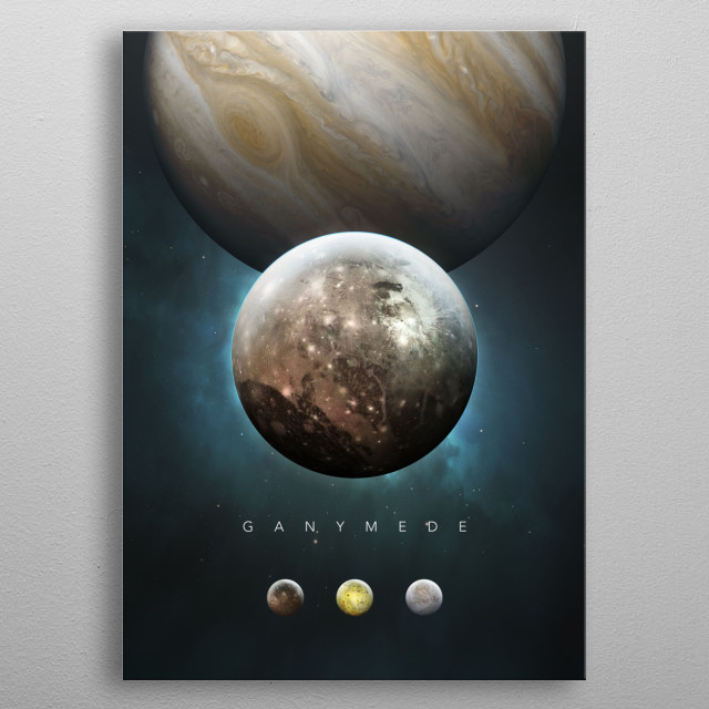 A Portrait of the Solar System: Ganymede metal poster
