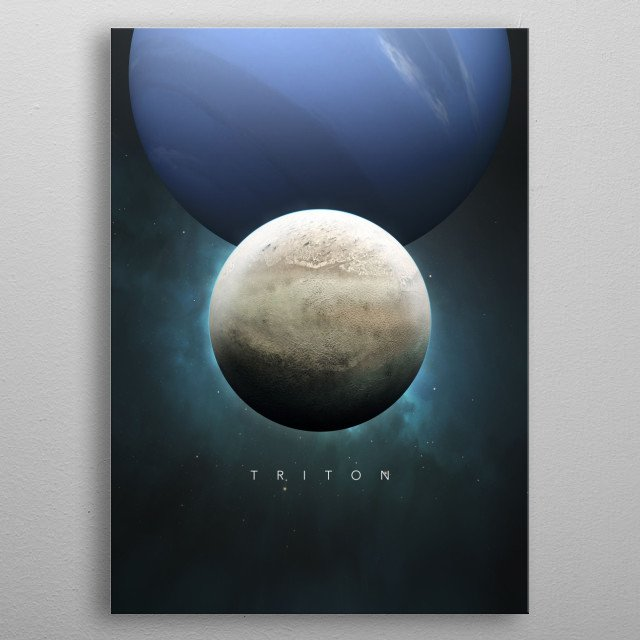 A Portrait of the Solar System: Triton metal poster