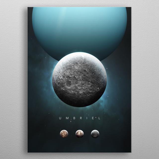 A Portrait of the Solar System: Umbriel metal poster