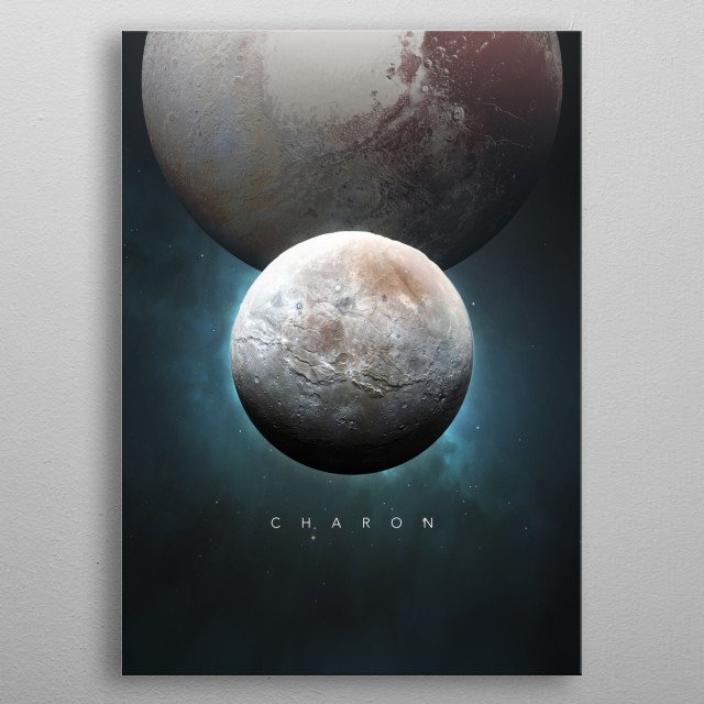 A Portrait of the Solar System: Charon metal poster