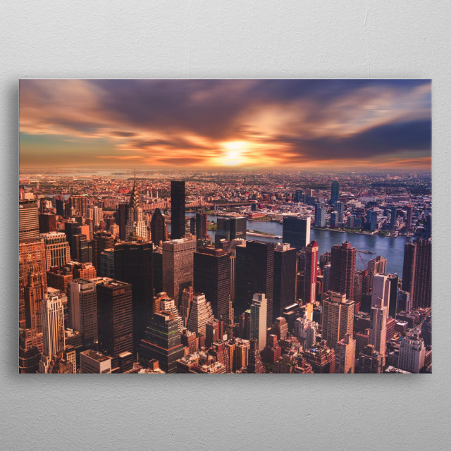 New York 18 metal poster