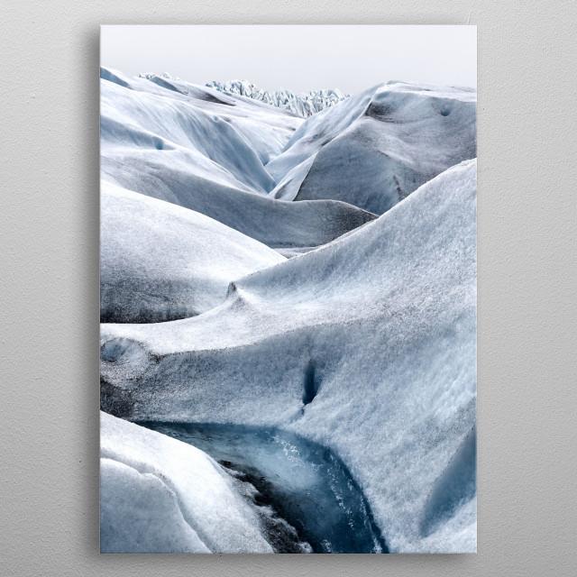 Glacier metal poster