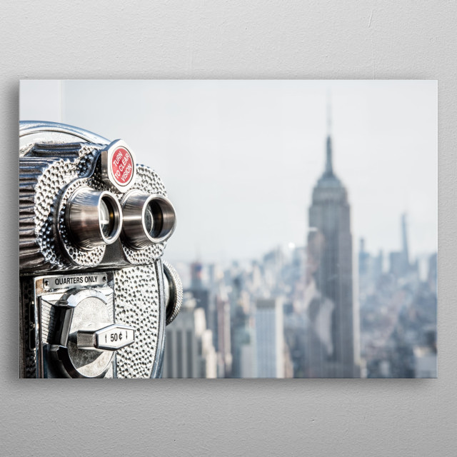 New York 19 metal poster