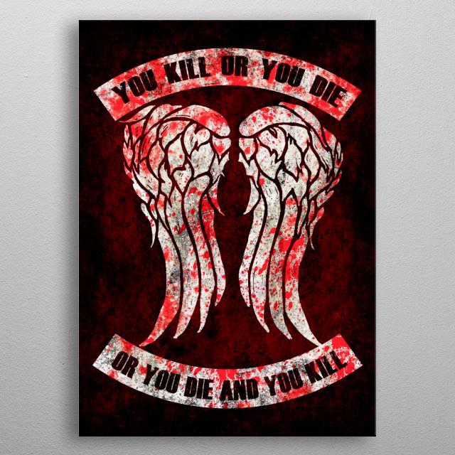 Daryl's Wings metal poster