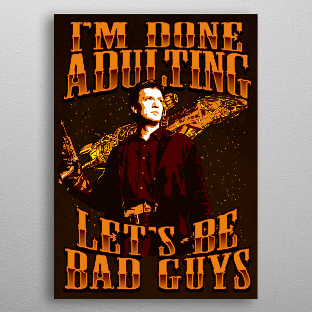 Lets Be Bad Guys metal poster