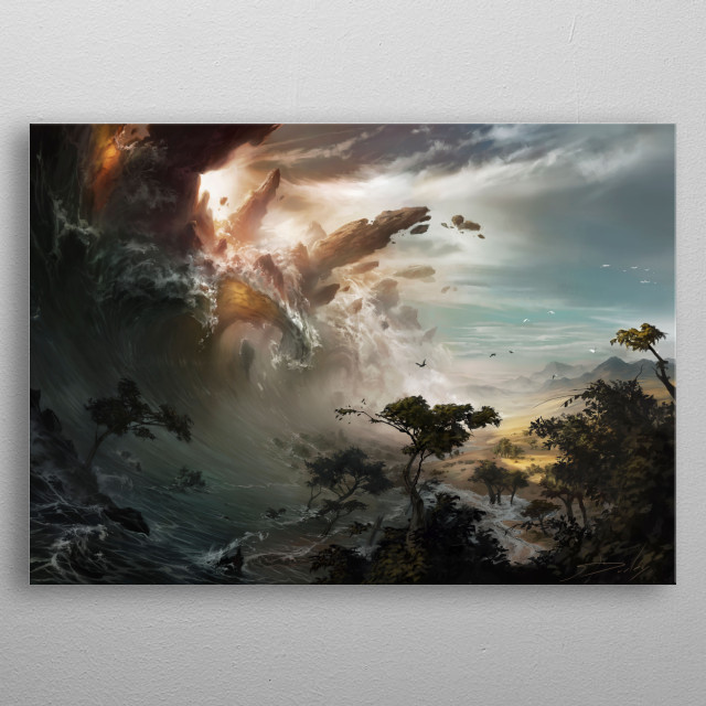 MTG Evolving Wilds metal poster