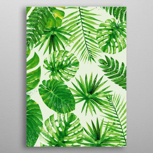 Tropical Pattern 4 metal poster