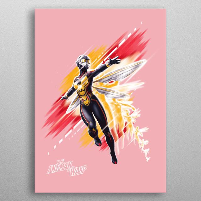 Wasp metal poster